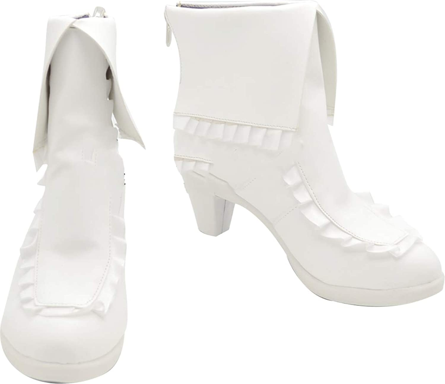 GSFDHDJS Cosplay Boots shoes for VOCALOID MIKU white
