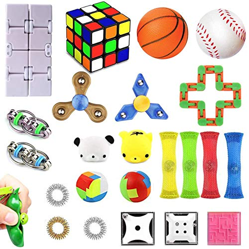 Fidget Toys Set, Sensory Toys for Adults Kids ADHD ADD Anxiety...