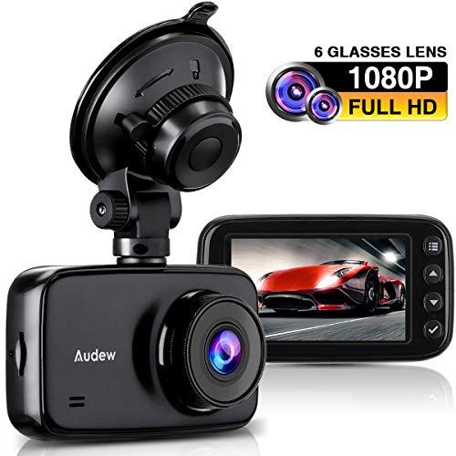 Audew Cámara de Coche, Dash CAM 1080P FHD DVR con Sensor Sony IMX323...