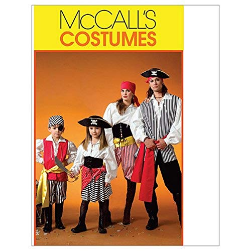 McCall's M4952 Boy's and Girl's Pirate Halloween Costume Sewing Patterns, Sizes 3-8