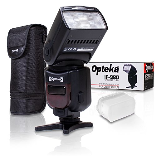 Opteka Pro i-TTL Auto-Focus Speedlight Flash with LCD Display for Nikon FX DX D850, D810, D750, D610, D500, D7500, D7200, D7100, D5600, D5500, D5300, D5200, D3500, D3400, D3300, D5, D4S, Df