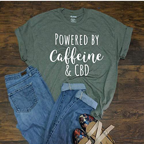 Powered By Caffeine and CBD Oil I run on CBD and Caffeine T Shirt Unisex Fit coffee Hemp