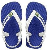 Havaianas Baby Brasil Logo, Chanclas Unisex niños, Azul (Marine Blue), 20 EU
