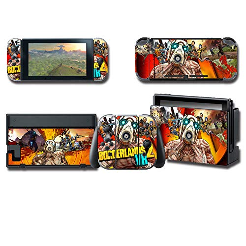 Skin Cover Decals Vinyl für Nintendo Switch, Anime Game Protector Wrap Full Set Protective Faceplate Stickers Console Joy-Con Dock (Border Lands [2537]