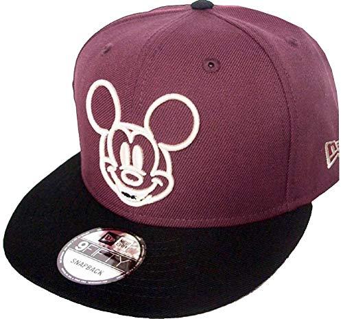 New Era Mickey Mouse Maroon Black Disney Snapback Cap 9fifty 950 OSFA Basecap