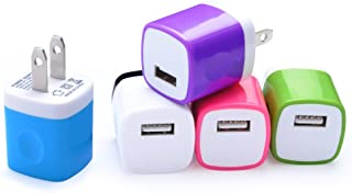 Wall Charger 5 Pack, Home Travel USB Power Adapter Wall Charger Plug Charging Block Cube Compatible with iPhone Xs Max/Xs/XR/X/8/7/6 Plus/5S/4S, Samsung Galaxy S9/S8/Note 9, LG, Kindle, Android Phone