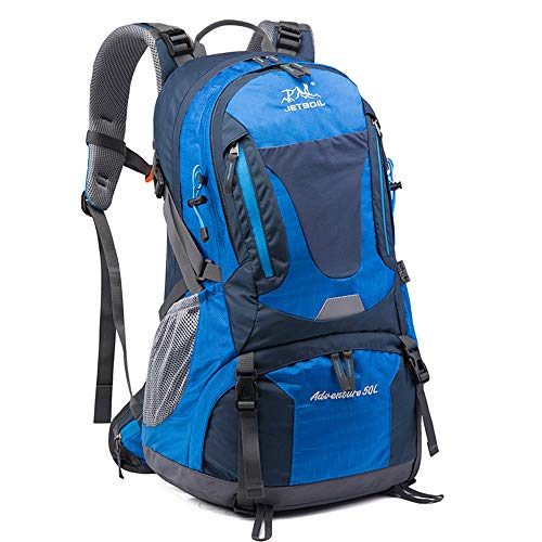 50L Ultra Lightweight Hiking Backpack, Chickwin Foldable Multi-functional Casual Rucksack Travel Daypack Bag for Men Women Outdoor Sport Camping Mountaineering Walking Climbing (blue,58 * 20 * 33cm)
