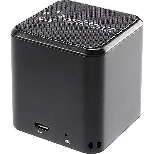 Renkforce BlackCube1 Bluetooth® Lautsprecher Freisprechfunktion Schwarz