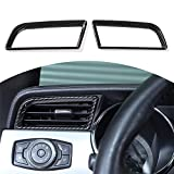 RT-TCZ Carbon Fiber Air Conditioner Outlet Vent Trim Cover Interior Accessories for Ford Mustang 2015 2016 2017 2018 2019 2020 2021, 2 PCS