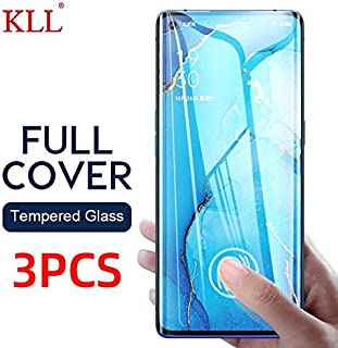 VINTO-Phone Screen Protectors - 1-3 PCS Full Cover Tempered Glass for OPPO Reno 3 2F Find X2 Pro A8 A91 Screen Protector f...