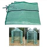 Raguso Cubierta de Invernadero cálida con Cremallera Cubierta de Invernadero portátil de plástico de Invernadero cálido Cubierta de Tienda de jardín para Plantas de Flores(143 * 73 * 195cm)
