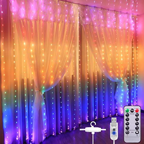 Curtain Lights, 3M*2.8M USB Powered Fairy String...