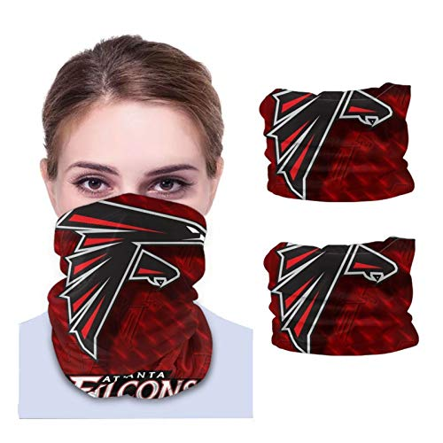 Atlanta Falcons Unisex Sun-Proof Face Bandanas,Face Cover,Scarf,Variety face Towel,Microfiber Neck Warmer,Variety Head Scarf,Lightweight,Breathable Outdoors,Running,Cycling 2 PCS