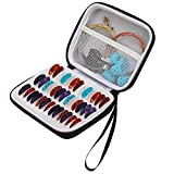 Guitar Pick Holder Case Compatible With All Size Picks And Other Accessories Include Fender/D'Addario/Chromacast/Jim Dunlop/Unlp Musical Instrument/Bolopick/Haneye,Picks Storage Pouch (Black)