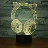 set 7 colores incoloro Night Custom LED Table Lamp 3D Kids Gift stereo room LED Table Lamp niños