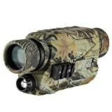 BOBLOV Night Vision Monocular with 16G Card, Digital Infrared Night Scope for Hunting