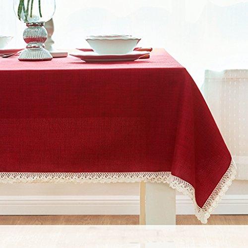 ZWL Fangma Littérature et art Couleur solide Salle de séjour moderne Table basse Rectangulaire Nacelle occidentale Nappe Tissu Tissu Tissu en tissu , Ajoutez de la vitalité à la cuisine ( Couleur : #1 , taille : 100*100CM )
