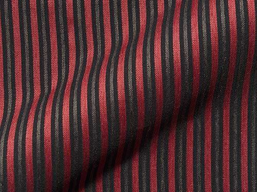 Tela para muebles Breda, diseño de rayas, color rojo, tela de tapicería de rayas rojas para coser y colocar, poliéster
