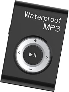 FITYLE Mp3 Music Player FM Radio Stereo Audio with Clip Lossless IPX8 Waterproof - Black