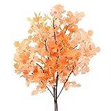 NAHUAA 2pcs 90 cm Plante Artificielle Feuilles d'érable Artificielles Plantes Orange pour Extérieur Intérieur Maison Cuisine Jardin Mariage Table