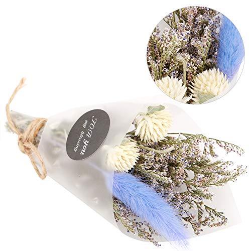 Tianhaik Natürlicher Getrockneter Blumenkleinstrauß für Hochzeitshaupttabellenblumendekorations-Feiertagsgeschenk