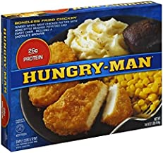 HUNGRY MAN TV BONELESS FRIED CHICKEN DINNER 1 LB PACK OF 3