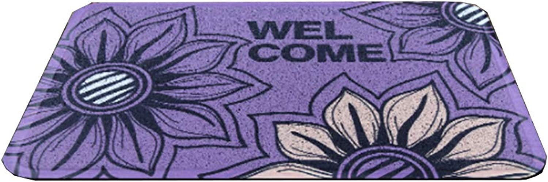 Door mat,Front Entrance Door mat Non Slip Door mat Entrance Rug Floor mat Waterproof Durable Easy Clean-Purple 50x80cm(20x31inch)