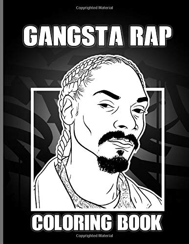 Gangsta Rap Coloring Book: Featuring Enchanting Coloring Books For Adults Relaxing