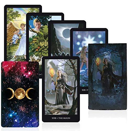 Brujas Tarot Tarjetas Cubierta Juego de Mesa Leer el Destino Mythic adivinación Juegos de Cartas