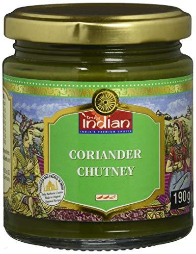 TRULY INDIAN Koriander Chutney, Würzig-scharfes Chutney als Dip oder Fertigsauce für schnelle Gerichte, Indisch kochen mit natürlichen Zutaten (6 x 190 g)