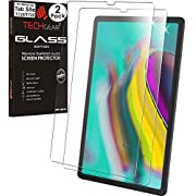 """TECHGEAR [2 Pack] GLASS Edition Screen Protector Compatible with Samsung Galaxy Tab S5e 10.5"""" (SM-T720 / SM-T725), Tempered Glass Screen Protector [9H] [HD Clarity] [Scratch-Resistant] [No-Bubble]"""