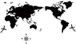 ملصقات جدارية ثلاثية الأبعاد لخريطة العالم، طراز شمال اوروبا، فنون جدارية يدوية من الاكراليك قابلة للازالة للمنازل