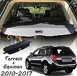 CARORMOKE Retractable Cargo Cover Privacy Shade Trunk Cover Black Compatible with 2010-2017 Chevrolet Equinox GMC Terrain (Upgrade Version: Including a Small Flap)