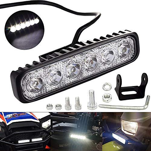 LTPAG Foco LED para Tractores, 6' 18W 1800LM Focos LED Tractor 12V-24V Faros Trabajo LED, IP68 Impermeable Luz de Niebla para Coche, SUV, UTV, ATV, Off-road,Camión,Moto,Barco - Garantía de 2 años