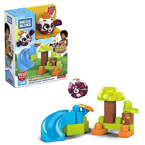 Mega Bloks GKX68 - Guck-Guck Panda-Rutsche Regenwald Spielset (14 Teile)