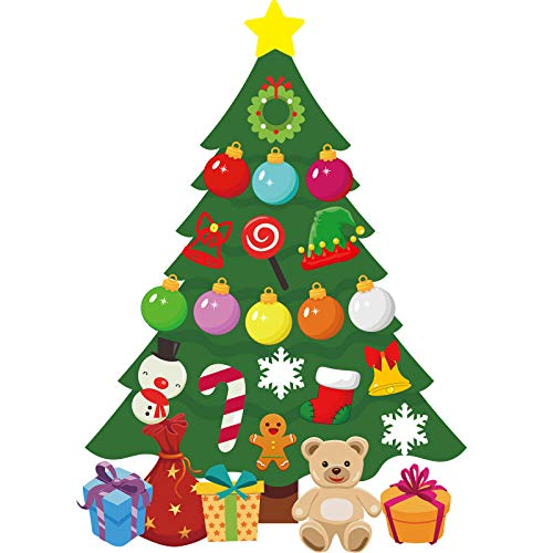 Christmas Party Decoration, Animated Christmas Fridge Magnet Set, Magnet Refrigerator Stickers Holiday Christmas Decorations for Fridge, Metal Door, Garage, Office (Christmas Tree Magnet, 21 Pieces)