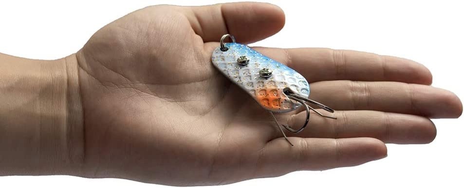 Fishing Spoon Lures Rigs Spinner Blades Colorful Casting Fishing Baits Swim Jig Freshwater Fishing Lures for Trout Bass Salmon Pike Walleye Fishing Tackle