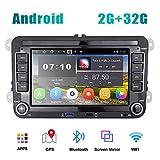 [2G+32G] Autoradio Android pour VW Navigation GPS 7' Écran Tactile Capacitif Bluetooth Voiture Stéréo WiFi Récepteur Radio FM USB pour Golf Polo Touran Tiguan Seat Altea