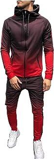 comprar comparacion Morbuy Chándal de Otoño Hombres Traje de Deportiva Hombres Sudadera + Pantalones Conjuntos, Costura Hip Hop Deportivos Man...