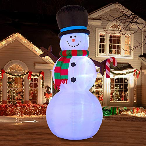 Snowman with Color Changing LED Lights Christmas Inflatable