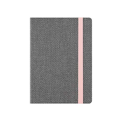 SMALL WEEKLY DIARY WITH NOTEBOOK 18 MONTH 2019 2020 - GREY TWEED