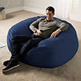 Jaxx 5 Foot Saxx - Big Bean Bag Chair for Adults, Navy