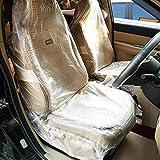 KingSaid Auto Housse de Siège - 100 pcs Couvertures De Protection Voiture/Siège De Protectionen Plastique Transparent - Garder Clair, Anti-Sale