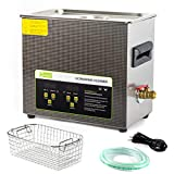 ONEZILI Ultrasonic Cleaner 6L, 180W Ultrasonic Carburetor Cleaner Commercial, Professional Ultrasonic Parts Cleaner Machine with Timer and Heater for Dental, Jewelry, Circuit Board, CD, Gun Parts