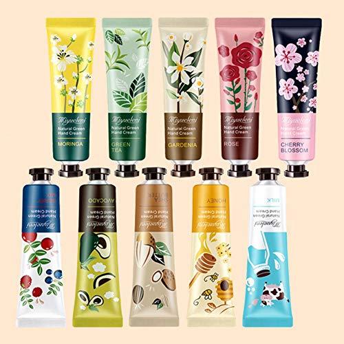 Crème pour Les Mains Mini Daily Hydratant Crème pour Les Mains Set Fragrance végétale profondément hydratant et nourrissant Collection Coffret Cadeau 10x 30 ML