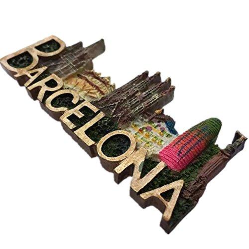 Barcelona Spanien Europa World City Harz 3D starker Kühlschrank Magnet Souvenir Tourist Geschenk Chinesische Magnet Hand Made Craft Creative Home und Küche Dekoration Magnet Sticker