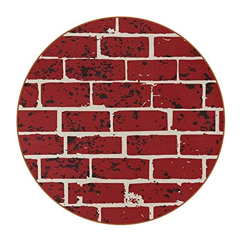 Evernever-Posavasos Redondos para Bebidas,Moderno azulejo de ladrillo para Pared,6 Piezas,tapete de protección de Mesa para Copas de Vino,Tazas y Tazas,Reutilizable en Oficina,Cocina,Bar,4.3 Pulgadas
