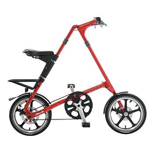 Strida LT Folding Bicycle, folds to 45x20x9', Red