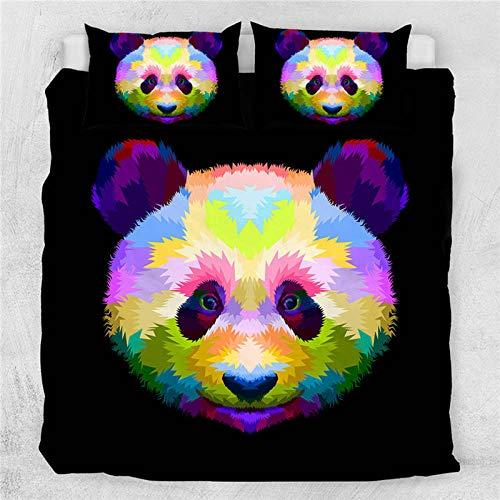 Anvvsovs Bedding set Single size Cartoon animal panda Print Bedding set Duvet Cover + Pillowcase Boy, Girl, Children's Gift 135 x 200 cm -Children's bedding