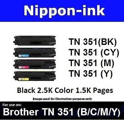 Nippon-ink TN351 (Magenta) For Use on Brother Laser Colour Toners - HL-L8250CDN, HL-L8350CDW, HL-L9200CDW, MFC-L8850CDW, MFC-L9550CDW